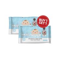 Neppi Antiseptic Baby Wipes - 50s (Buy 1 Get 1)