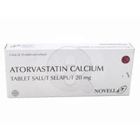 Atorvastatin Novell Tablet 20 mg (1 Strip @ 10 Tablet)