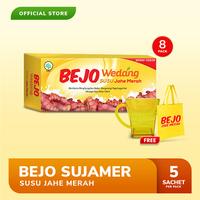 Bejo Susu Jahe Merah (SUJAMER) 8 Pack ( 40 Sachet ) FREE Gelas + Tote Bag