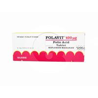 Folavit Tablet 400 mcg (10 Strip @ 10 Tablet)