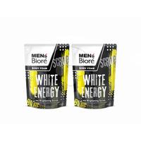 MEN'S BIORE Body Foam White Energy Pouch 450 mL Twinpack