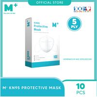 M+ Masker KN95 5 Ply Earloop (10 Pcs)