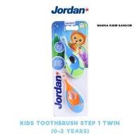 Jordan Toothbrush Step 1 Twin (0-2 Years) Super Soft (1 Pack @ 2 Pcs)