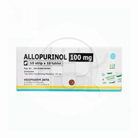 Allopurinol Hexpharm 100 mg (10 Strip @ 10 Tablet)