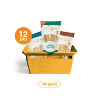 Casa Grata - Set of 12 Crackers C - 3 Flavours with 4 SC + 4 SS + 4 H