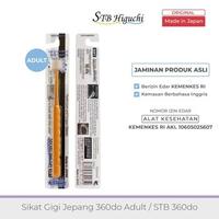 STB Higuchi 360do Brush Adult / Sikat Gigi Jepang - Orange