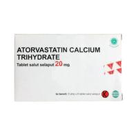 Atorvastatin OGB Dexa Medica Tablet 20 mg (5 Strip @ 6 Tablet)