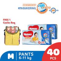 Huggies Dry Pants Popok Celana M 40 2 Pack Free Cooler Bag