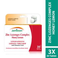 Jamieson Zinc Lozenges Complex Honey Lemon (Box @ 30 Tablet) - 3 Pack