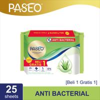Paseo Tissue Basah Anti Bacterial 25 Sheets (Buy 1 Get 1 FREE)