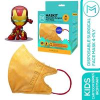 Maskit Masker Duckbill Anak - Cartoon Series Kids - Iron Man (10 Pcs)