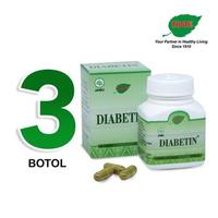 Jamu IBOE - 3 Botol Diabetin Herbal Supplement 30 Kapsul