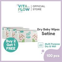 Vitaflow Dry Tissue Satine 100 Lembar - Buy 2 Get 1 Free