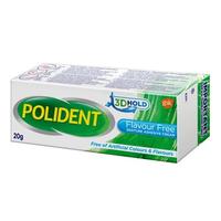 Polident Denture Adhesive Cream Flavour Free 20 g