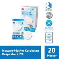 3M Nexcare Masker Kesehatan Respirator KF94 (1 Box @ 20 Pcs)
