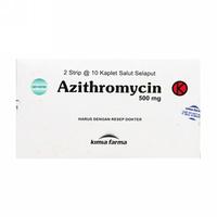 Azithromycin Kaplet 500 mg (3 Strip @ 10 Kaplet)