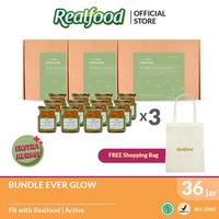 Realfood Ever Glow Triple Bundle Semi Concentrated Bird's Nest dengan Ekstrak Kurma Free Shopping Bag