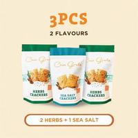 Casa Grata Crackers Set of 3 - 2 Herbs dan 1 Sea Salt