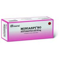 Miniaspi Tablet 80 mg (10 Strip @ 10 Tablet)