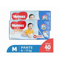 Huggies Dry Pants Popok Celana M 40 (2 Pack)
