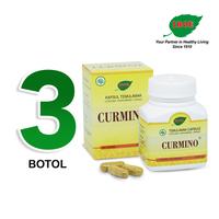 Jamu IBOE - 3 Botol Curmino Herbal Supplement 30 Kapsul