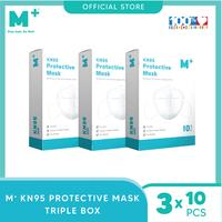 M+ Masker KN95 5 Ply Earloop (10 Pcs) - Paket 3 Box