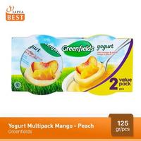 Greenfields Yogurt Mango-Peach 125 g - 2 Pcs