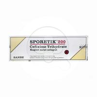 Sporetik Kaplet 200 mg (1 Strip @ 10 Kaplet)
