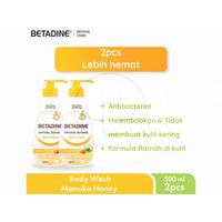 BETADINE Body Wash Manuka Honey Bottle 500 mL -  Twin Pack