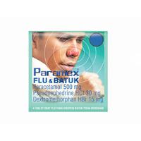 Paramex Flu Dan Batuk Tablet (1 Strip @ 4 Tablet)