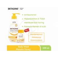 BETADINE Body Wash Manuka Honey Bottle 500 mL + Hand Sanitizer