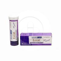Holisticare Supreme Ester-C Effervescent Blackcurrant Tablet (1 Tube @ 10 Tablet)