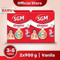 Paket 2 - SGM Eksplor 3 Plus Susu Pertumbuhan 3-5 Tahun Vanila 900 g