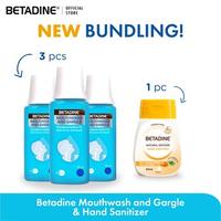 BETADINE Mouthwash and Gargle 100 mL (3 Pcs) & BETADINE Hand Sanitizer Manuka Honey 50 mL (1 Pcs)