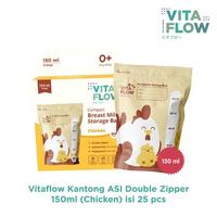 VITAFLOW Kantong ASI 150 mL (Chicken) - Double Zipper Anti Bocor