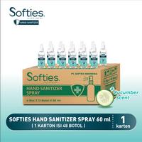 Softies Hand Sanitizer Spray 60 mL - 1 Carton