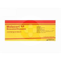 Molacort Tablet 0,5 mg (1 Strip @ 10 Tablet)