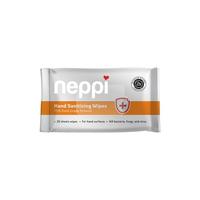 Neppi Hand Sanitizing Wipes - 20s