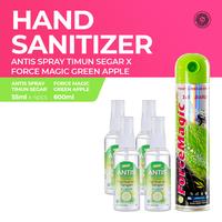 Antis Spray Timun 4 x 55 mL & Force Magic Green Apple Pop Art 600 mL