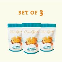 Casa Grata Crackers Set of 3 - 3 Sea Salt