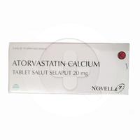 Atorvastatin Novell Tablet 20 mg (3 Strip @ 10 Tablet)