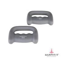 Happyfit Hand Dumbbell Neoprene 1 Kg (2 Pcs) - Grey
