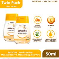 Betadine Hand Sanitizer Manuka Honey 50 ml Twinpack