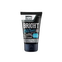 Men's Biore Double Scrub Facial Foam Bright Oil Clear 100 g