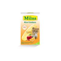 Milna Rice Crackers Apple Orange 5 x 4 g