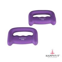 Happyfit Hand Dumbbell Neoprene 1 Kg (2 Pcs) - Purple