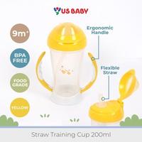 US Baby Straw Training Cup 200 ml - Kuning
