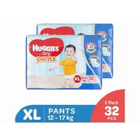Huggies Dry Pants Popok Celana XL 32 (2 Pack)