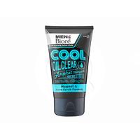 MEN'S BIORE Double Scrub Facial Foam Cool Oil Clear 100 g