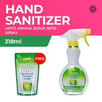 Antis Spray Jeruk Nipis 318 mL - Free Antis Refill Pouch 300 mL